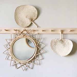 Other - 3 Woven Straw Fans/Wall Decor